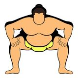 Sumo wrestler icon cartoon Royalty Free Stock Images