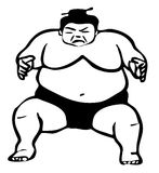 Sumo wrestler illustration Stock Photo