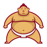 Sumo wrestler in rack Stock Image