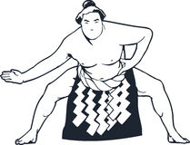 Sumo Wrestler Vector Design Clipart Stock Photography