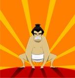Sumo wrestler, vector Stock Photography