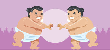 Sumo wrestlers Stock Photography