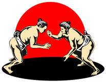 Sumo wrestlers Royalty Free Stock Image
