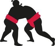 Sumo wrestling fight. Vector sports Stock Photos