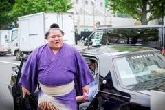 Sumoworstelaar Fujiazuma Kazuyoshi Royalty-vrije Stock Foto's