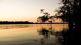 Sumpf-Sonnenuntergang lizenzfreies stockfoto