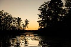 Sumpf-Sonnenuntergang lizenzfreies stockbild