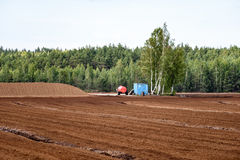 Sumpf und das Feld, auf denen die Produktion im blac durchgeführt wird Lizenzfreies Stockbild