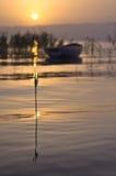 Sumpf und Sonnenuntergang stockbild