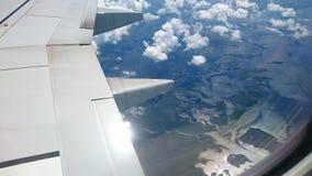 Sumpfgebiete Florida von einem Flugzeug lizenzfreie stockfotos