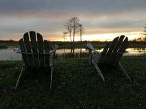 Sumpfsonnenuntergänge im Louisiana-Sumpf Lizenzfreie Stockfotografie
