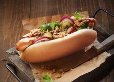 Sumptious hotdog Royalty Free Stock Image