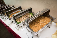 Sumptuous Asian buffet. Sumptuous buffet meal with variety of Asian dishes Stock Photos