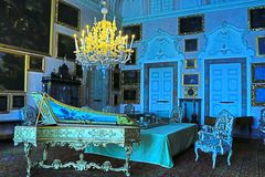Sumptuous Baroque palace music room Isola Bella Italy royalty free stock image