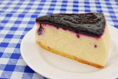 Sumptuous blueberry cheesecake Stock Images