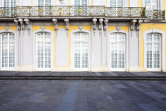 Sumptuous castle windows and balcony as background Royalty Free Stock Photography