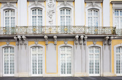 Sumptuous castle windows and balcony as background Stock Photography