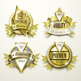 Sumptuous gold and jewelry labels design Royalty Free Stock Photo