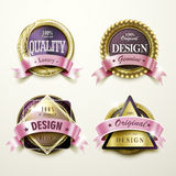 Sumptuous golden labels design Royalty Free Stock Photography