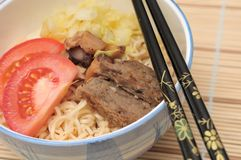 Sumptuous Japan noodle cuisine Royalty Free Stock Photo
