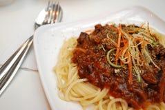 Sumptuous vegetarian spaghetti Stock Image
