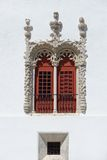 Sumptuous  window of Sintra Palace in Portugal Royalty Free Stock Photography