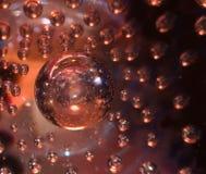 Sumário do close-up de vidro Fotografia de Stock Royalty Free