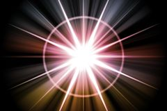 Sumário solar do Sunburst da estrela Fotos de Stock