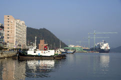 Sumsung Heavy Industries shipyard Geoje island korea Stock Images
