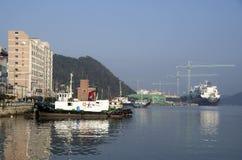 Sumsung Heavy Industries shipyard Geoje island korea stock images