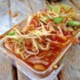 sumtum泰国食物和辣食物 库存图片