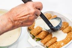 Sumujący biały kumberland quinoa krepy Zdjęcie Royalty Free