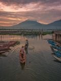 Sumurup. Morning at rawa pening lake Stock Image