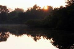 THE SUN ÄR PRECIS KOMMANDE ÖVRE Royaltyfria Bilder