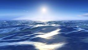 Sun über dem wilden Meer Lizenzfreie Stockfotos