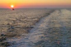 Sun über Wasser bei Skagerrak stockfotos