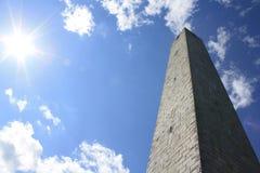 The Sun και ο πύργος Στοκ Εικόνες