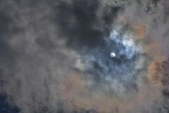 Sun и облака Стоковое Изображение