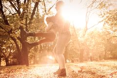 Sun и потеха стоковое фото