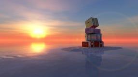 Sun и пляж Стоковое Фото