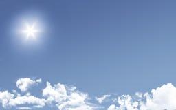 Sun над облаками Стоковые Фото