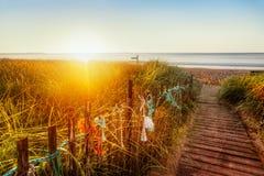 Sun на пляже Мейна стоковая фотография