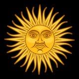 Sun от Sol -го мая/de Mayo Стоковые Фотографии RF