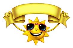 Sun с знаменем Стоковые Фото