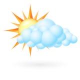 Sun с облаком Стоковые Фото