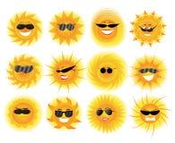 Sun. Vector illustration on white background Stock Photography