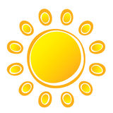 Sun. Vector Suns on White Background Royalty Free Stock Photos