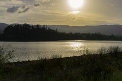 Sun湖 库存照片
