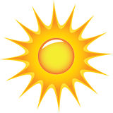 Sun. Radiant sun, funny and explosive Royalty Free Stock Photography