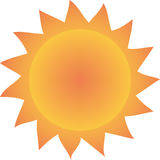 Sun. This is a  illustration of a stylized sun symbol Royalty Free Stock Photo